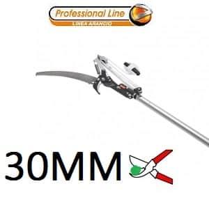 Ножици и трион за високо рязане на клони с телескопичен алуминиев удължител 3.6м