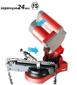 Заточване на вериги с автоматично преместване на веригата SHARP100